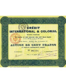 Crédit International & Colonial