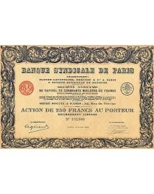 Banque Syndicale de Paris, Anc. Claude Lafontaine, Prévost & Cie & Sté Syndicale de Banques