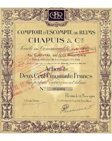 Comptoir d'Escompte de Reims Chapuis & Cie
