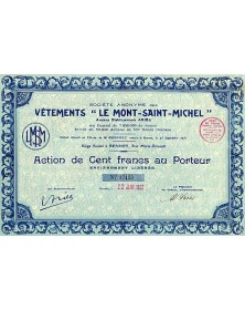 S.A. des Vêtements ''Le Mont-Saint-Michel''