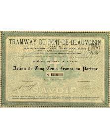 Tramway du Pont-de-Beauvoisin (Savoie)