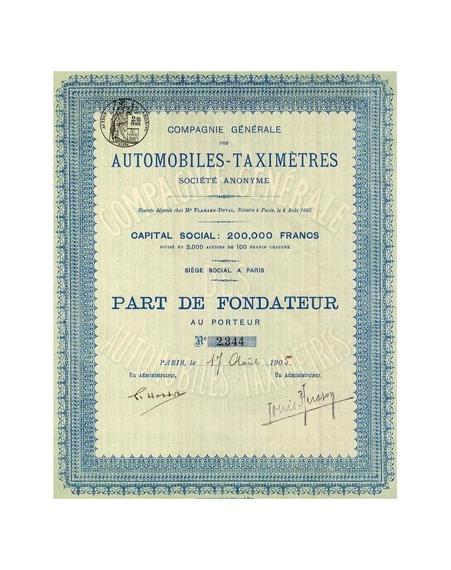 Cie Générale des Automobiles-Taximètres