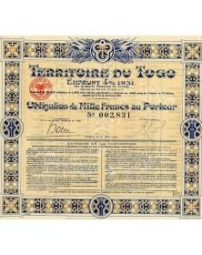 Territoire du Togo : Emprunt 4% 1931