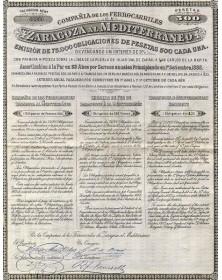 Cia de los Ferrocarriles de Zaragoza al Mediterraneo