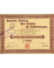 Sté Minière des Etains de Salamanque