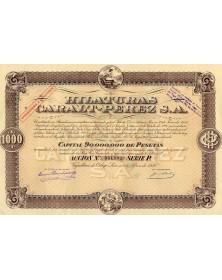 Hilaturas Caralt-Perez S.A.