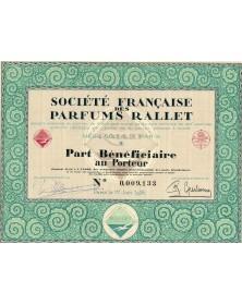 Sté Française des Parfums Rallet