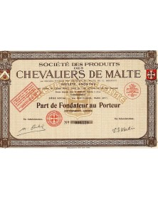 Sté des Produits des Chevaliers de Malte
