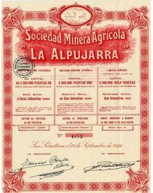"""Sociedad Minera Agricola -La Alpujarra-"""""""""""