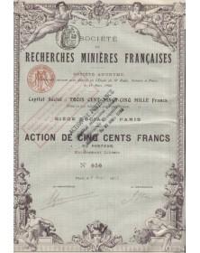 Sté de Recherche Minières Françaises