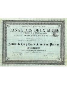 S.A. du Canal des Deux Mers de l'Océan à la Méditerranée