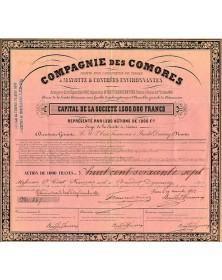 Cie des Comores, Sté pour l'Exploitation de Terres à Mayotte & Contrées Environnantes