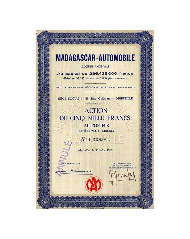 Madagascar-Automobile