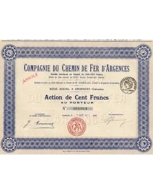 Cie du Chemin de Fer d'Argences (Calvados)