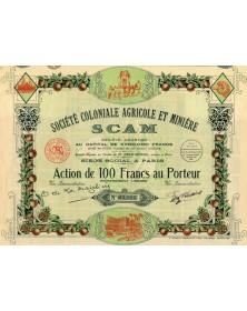 Sté Coloniale Agricole & Minière (SCAM)