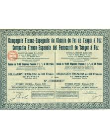 Cie Franco-Espagnole du Ch. de Fer de Tanger à Fez