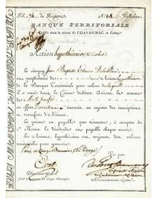 Banque Territoriale (avec autographe de S. Dupont de Nemours)