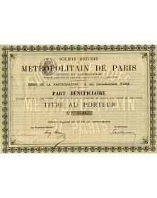 Sté d'Etudes du Métropolitain de Paris