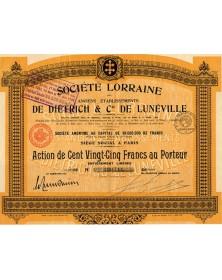 Sté Lorraine De Dietrich & Cie de Lunéville