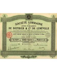 Sté Lorraine des Anciens Ets De Dietrich & Cie de Lunéville