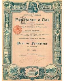 Cie Parisienne des Fontaines à Gaz