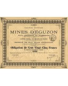 Sté des Mines d'Eguzon (Indre) Alun, Couperose et Plombaigne