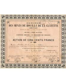 Sté des Mines de Houille de la Clayette (Saône et Loire)