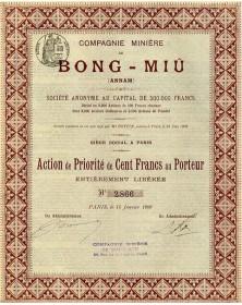 Cie Minière de Bong-Miû (Annam)