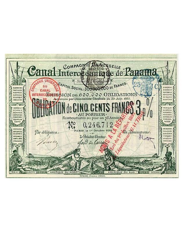 Panama Canal Cie Universelle du Canal Interocéanique de Panama