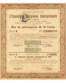 L'Exposition Religieuse Internationale de 1900