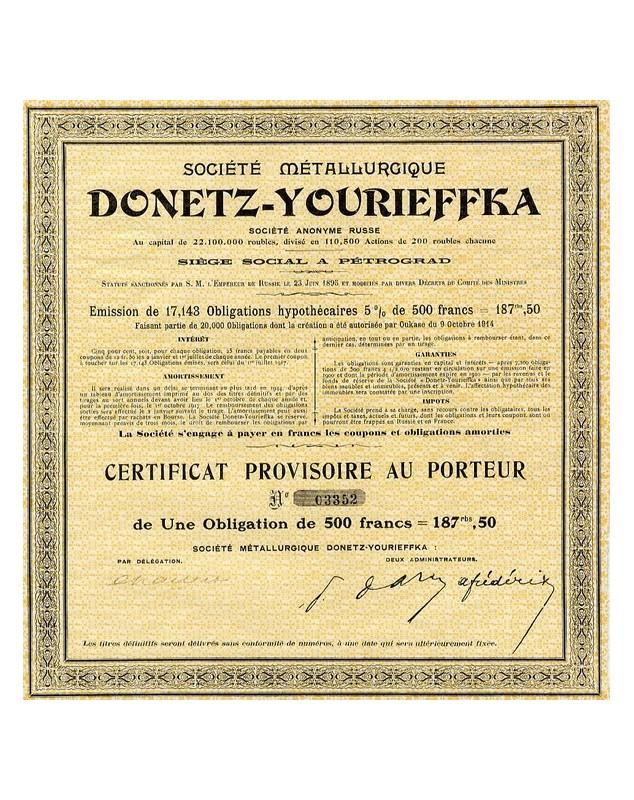Sté Métallurgique Donetz-Yourieffka