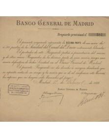 Banco General de Madrid (Banque Générale de Madrid)