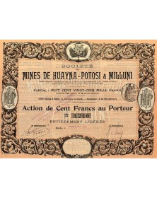 Sté des Mines de Huayna-Potosi & Milluni