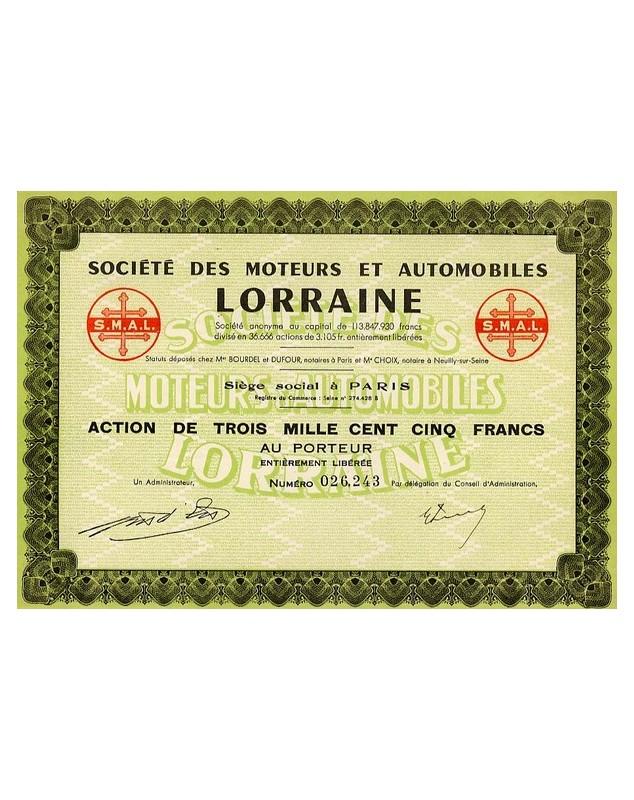 Sté des Moteurs et Automobiles Lorraine