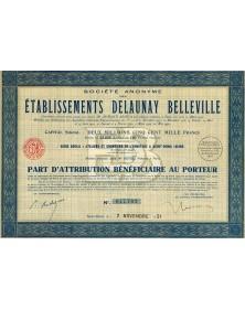 Sté des Ets Delaunay Belleville