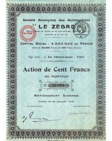 """Sté des Automobiles -Le Zèbre-"""""""""""