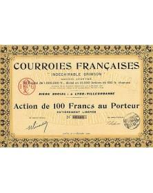 Courroies Française ''Indéchirable Grimson''