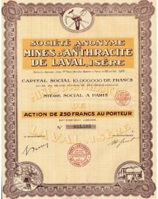 Sté des Mines d'Anthracite de Laval (Isère)