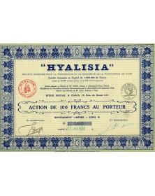 ''Hyalisia'', S.A. pour la Fabricaton et le Commerce de la Parfumerie de Luxe