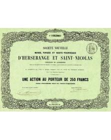 Sté Nouvelle des Mines, Forges et Hauts-Fourneaux d'Herserange et St-Nicolas