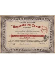 """S.A. -Amiantes de Corse-"""""""""""