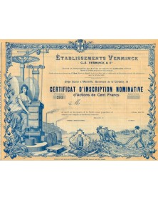 Etablissements Verminck. 1899
