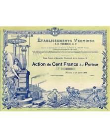 Etablissements Verminck. 1909