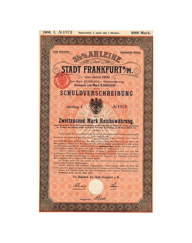 3,5% Anleihe der Stadt Frankfurt/Main