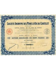 Sté des Mines d'Or du Chatelet (Creuse). 1929 Limousin/Creuse 23
