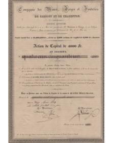 Cie des Mines, Forges et Fonderies du Creusot et de Charenton