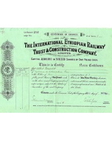 The International Ethiopian Railway Trust & Construction Co.
