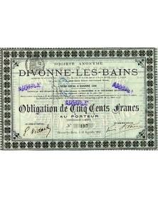 Sté de Divonne-Les-Bains (Casino et Grand-Hôtel)