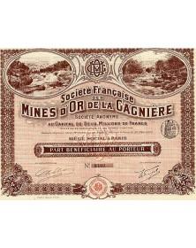 Sté Française des Mines d'Or de la Gagnière