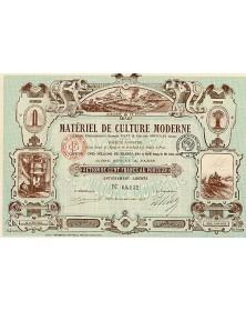 Matériel de Culture Moderne, Anciens Ets George Flitz & Ateliers Grivolas Réunis